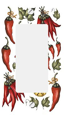 - Chili Peppers and Oil GFI Rocker Switchplate Cover