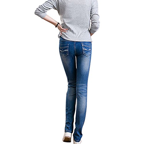Jean Dame Xinvision lastiques Mom Femmes Pantalon Fonc Bleu Leggings maternit de Maigre Zx0Axdw