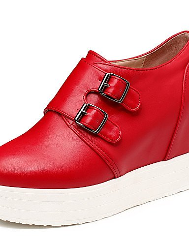 5 us10 cn43 Plataforma red hug uk8 eu42 us7 Tacones Negro Tacones mujer 5 de uk8 Semicuero black eu42 Casual us10 Zapatos Exterior 5 cn43 Rojo ZQ eu38 red cn38 5 uk5 5 5 Blanco wZRdq1Hq