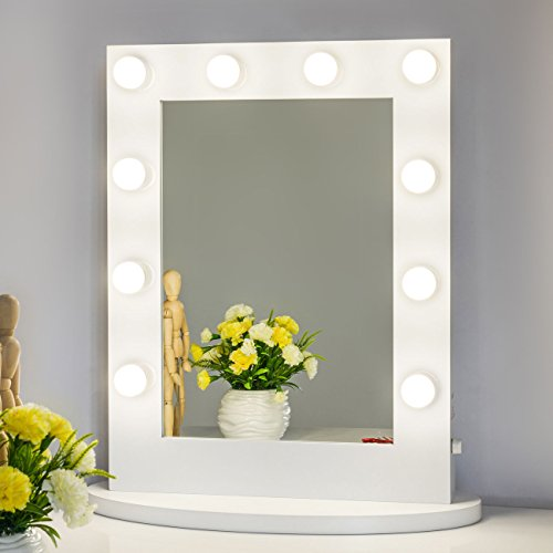 Chende-Hollywood-Tabletops-Lighted-Makeup-Vanity-Mirror-with-Lights-Dimmer