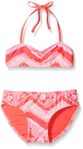 Price comparison product image Gossip Girl Big Girls' All In The Mix Two Piece Bikini, Dark Ginger, 10