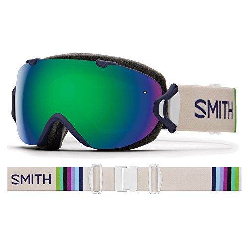 Smith Optics Womens IOS Goggles, Midnight Brighton/Green Sol-X Mirror Red Sensor Mirror - OS