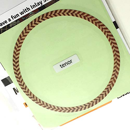 Rosette (Herringbone) for TENOR ukulele Inlay Sticker Decals