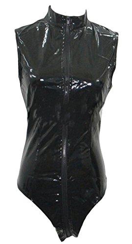EOZY Damen Leder Dessous Kostüm Clubwear Bodys