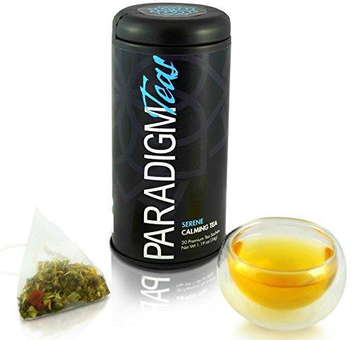 PREMIUM CALMING TEA - Premium Ingredients, 20 Herbal Tea Pyramid Bags - Relax Your Body, Ease Your Mind - Stevia Free, Senna Free, Caffeine Free - MADE IN ()