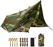 FREE SOLDIER Waterproof Portable Tarp Multifunctional Outdoor Camping Traveling Awning Backpacking Tarp Shelte