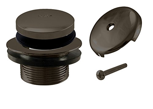 Westbrass Tip-Toe Coarse Thread Tub Trim Set with 1-Hole Overflow Faceplate, Oil Rubbed Bronze, (Drain Faceplate)
