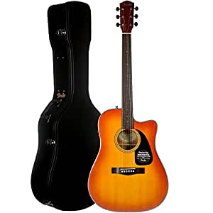 fender factory special run cd 60ce acoustic electric guitar with case honeyburst. Black Bedroom Furniture Sets. Home Design Ideas