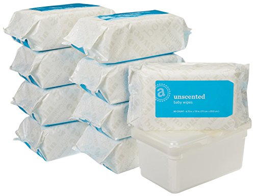 Amazon Elements Baby Wipes, Unscented, Tub & Refills