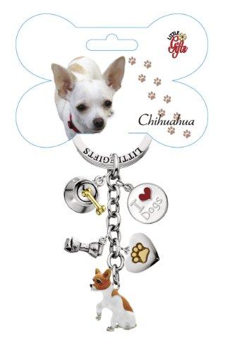 LittleGifts Hand Painted Chihuahua Keychain (Chihuahua Keychain)