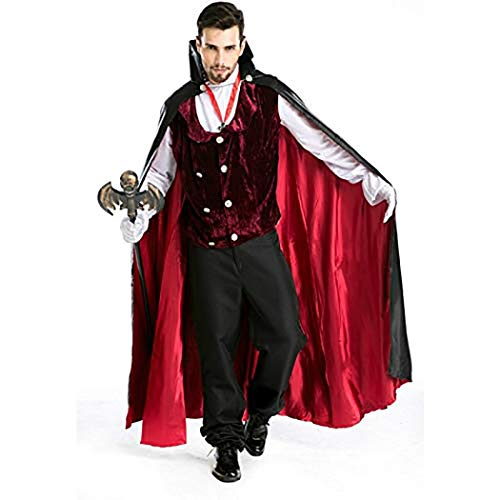 Zooka Adult Vampire Costume Role Play Halloween Count Dracula Cosplay Clothing Masquerade Vampire Cosplay Costumes Clothing -