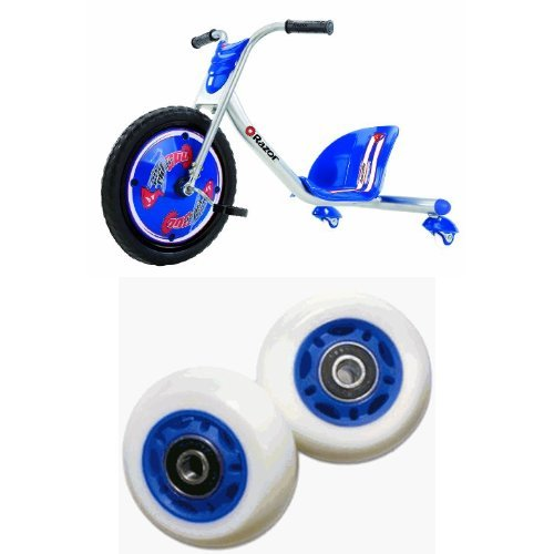 Razor RipRider 360 Caster Trike, Blue and Razor PowerWing RipRider 360 Replacement Rear Wheels, Blue