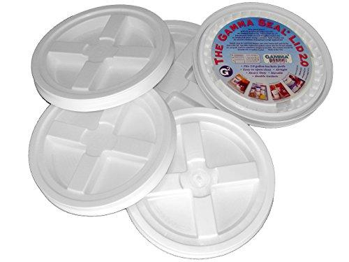 5 Gamma Seal Lids for 2-Gallon Standardized Buckets (do NOT fit 5 gallon (Dimensions 5 Gallon Bucket)