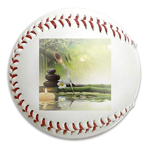 Whages Zen Garden Theme Magic Jasmine Japanese Bamboo Candle Personalized Soft Baseball Bubble Baseball is Suitable for Children and Teen Players Training Batting