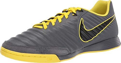 Nike Men's LegendX 7 Academy IC Indoor Soccer Shoes-Dark Grey/Opti Yellow/Black (6.5)