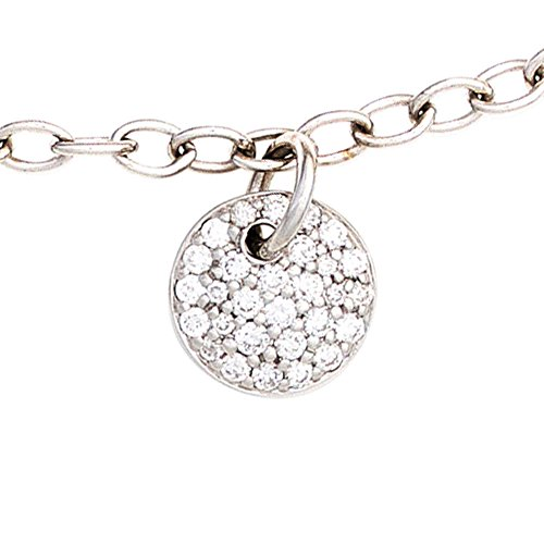 JOBO bracelet en or blanc 585 sertie de diamants brillants 29 0,34ct. mousqueton 18,5 cm