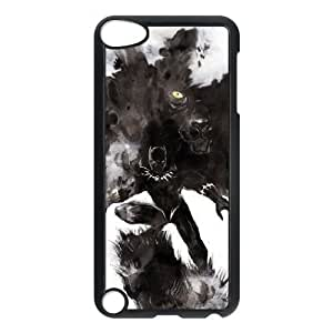 Custom made Case,Black Panther Cell Phone Case for iPod touch 5,Black Case With Screen Protector (Tempered Glass) Free S-7262721