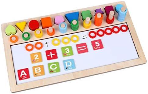 ポータブル 磁気製図板のカウントとスペルの木製おもちゃ子供向けの磁気製図板-完璧な教育用木製おもちゃ 贈り物