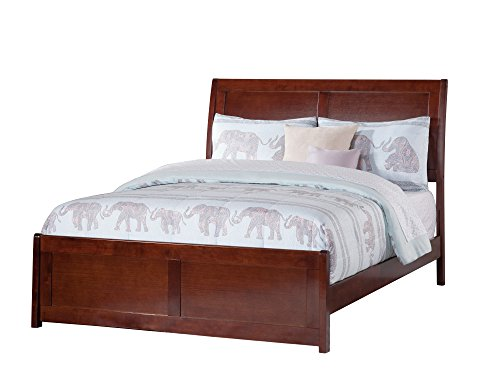 Walnut Bed Double - Atlantic Furniture AR8936034 Portland Bed Full Walnut
