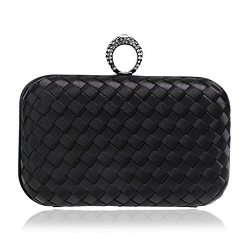 Diamonds Evening Purse Day Women Small Knitted Clutches Candy Bag Fashion Material Bags YM1013black Wedding Finger Handbags Ring 5qpxw4fS