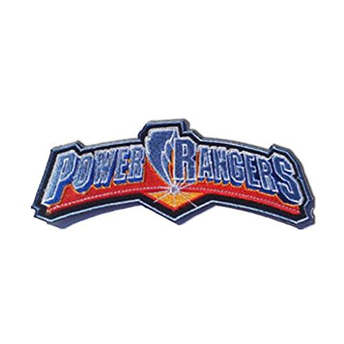 Retro Power Rangers 15cm Logo Sew Ironed On Badge Embroidery Applique - Power Ranger Diy Costume