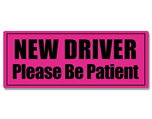 American Vinyl HOT Pink New Driver Please Be Patient Bumper Sticker (car Drive Safety Caution) – Go4CarZ Store