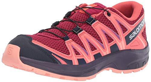 (Salomon Kids XA Pro 3D J, Trail Running Shoe, cerise / dubarry / peach amber ,  Child 6)
