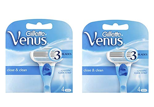 Gillette Venus Womens Razor oweinn Blade Refills, Venus Original, 4 Cartridge (Pack of 2)