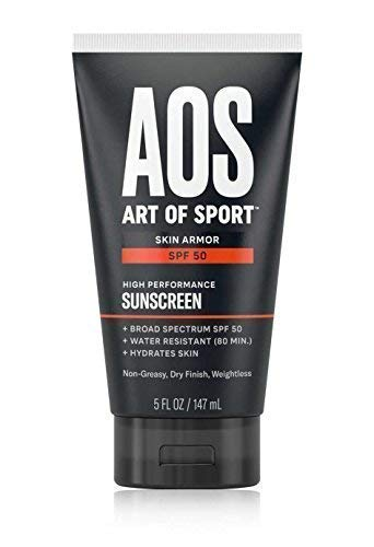 Art of Sport Skin Armor Sunscreen Lotion, Waterproof, SPF 50 Broad Spectrum UVA/UVB Protection, Oil-Free and Dry Finish, Approved to use in Hawaii, 5 oz