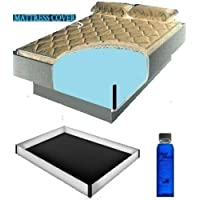 Super Single 48x84 2000 Zipper Waterbed Mattress Cover w/ 12 mil Pro Max Water bed Safety Liner & 4oz Premium Clear Bottle Conditioner