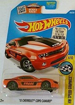 Hot Wheels 2016 H.W Speed Graphics ?13 Chevrolet COPO Camaro Red Orange 179//250 Mattel