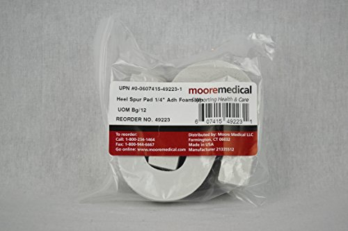 Moore Medical Heel Spur Pads Adhesive Foam 1/4 - Bag of 12