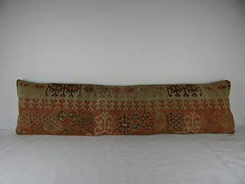 Queen Boho Woven Bedding Kilim Pillow Cover, King Size Kilim Pillow Cover, Patio Bench Garden Kilim Cushion Woven Wool Throw Pillow Bed Couch 16