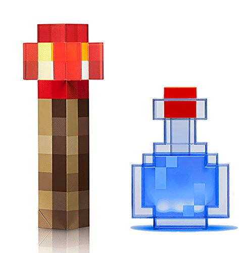 ThinkGeek Minecraft Redstone Light-Up Wall Torch and Color