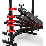 Panca-Multifunzione-Panca-Pesi-per-Allenamento-Curl-per-Braccia-E-Gambe-Schienale-Regolabile-Porta-Bilanciere-Schiena-E-Braccia-Squat-Rack-Set-Home-Fitness146x80x200cmA1
