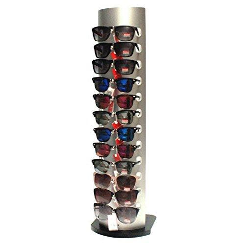 Présentoir à lunettes 12 paires de couleur gris métallisé - 0990 ... 436154187154