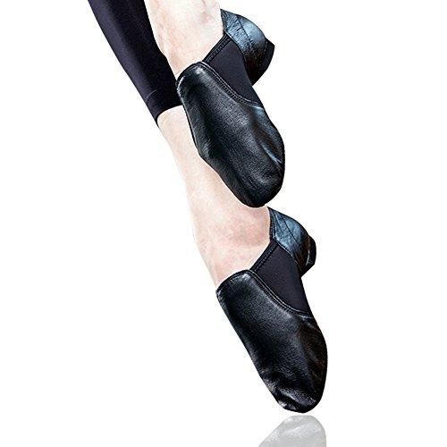STELLE Slip-on Jazz Shoes for Women Men Teens (Women 9M, Black) by STELLE (Image #3)