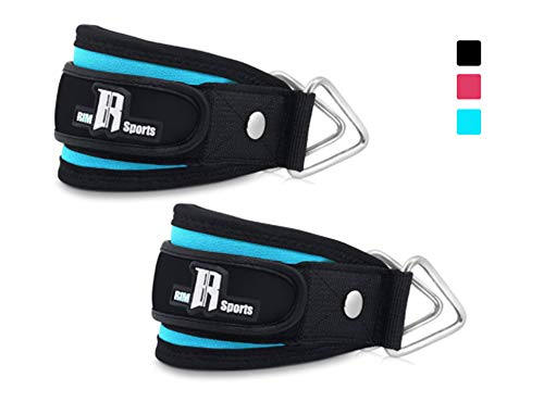 (Pair of Premium Ankle Cuffs For Exercise And Fitness Equipment Kickback Cable Strap Large And Small Fitness Equipment Ankle Straps For Workout Machines For Men's And Women's Straps Turquoise)