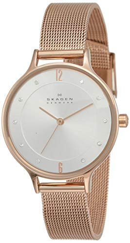 (Skagen Women's Anita Quartz Stainless Steel Mesh Casual Watch)