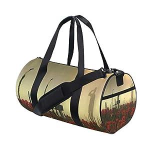 Gym Bag Hot Veterans Day Womens Yoga Canvas Duffel Bag Cute Sports Bag for Mens
