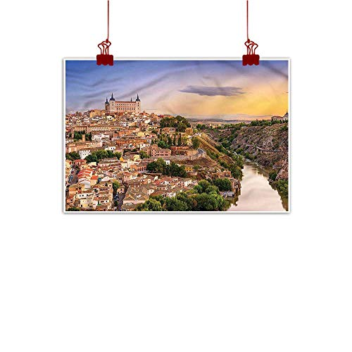 - Mangooly Decorative Art Print Wanderlust,Toledo Spain Old City 20
