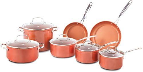 NuWave cerámica 12 piezas Juego de ollas con Twister 7 pc. Multi ...