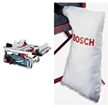 Bosch GTS1031 10-Inch Portable Jobsite Table Saw & Bosch TS1004 Table Saw Dust Collector Bag