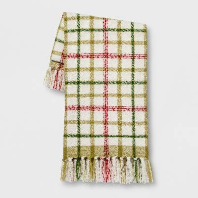 (Threshold Boucle Plaid Throw Blanket - 50x60)