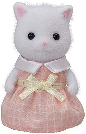 실바 니 안 패밀리 인형 페르시아 고양이 소녀 (화이트) 화-105 / Sylvanian Family Doll Persian Cat Girl (White) Ni-105