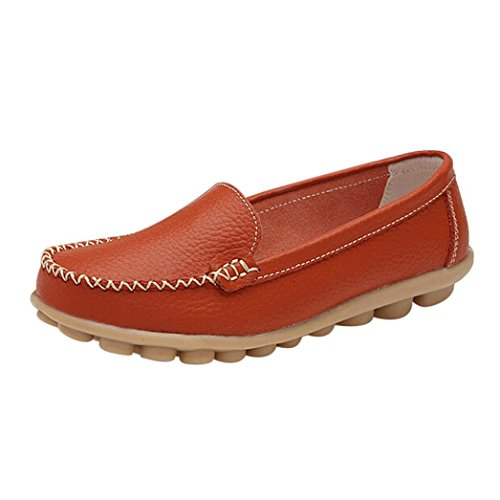 Sunbona Women Spring Summer Solid Fashion Round Toe Causal Loafers Slip On Comfort Flat Shoes