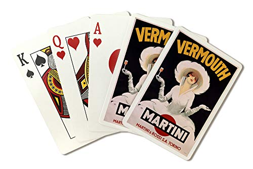 Vermouth - Martini Vintage Poster (artist: Dudovich) Austria c. 1920 (Playing Card Deck - 52 Card Poker Size with Jokers)
