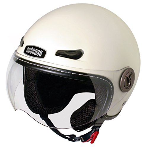 Nutcase - Motorcycle/Scooter Helmet, Fits Your Head, Suits Your Soul - Salt, Large