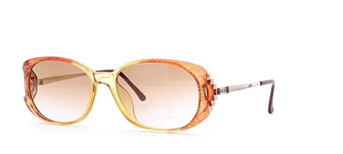 f9bc1d1b801 Image Unavailable. Image not available for. Color  Christian Dior 2625 30  Brown and Orange Authentic Women Vintage Sunglasses
