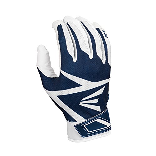 Easton Z3 Hyperskin Batting Gloves, White/Navy, Large